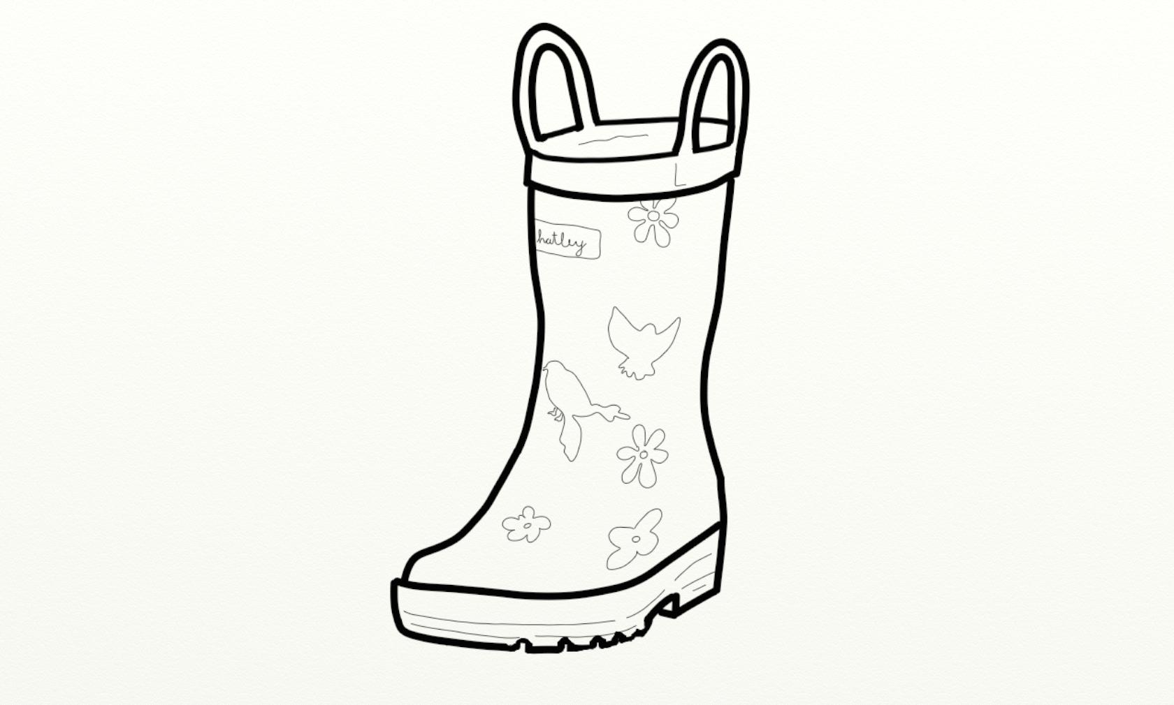 Rain boots the boot kidz girl'wellington boots girl'wellies clip art