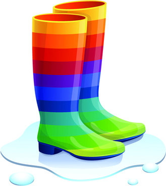 Rain boots vector free download free for clip art