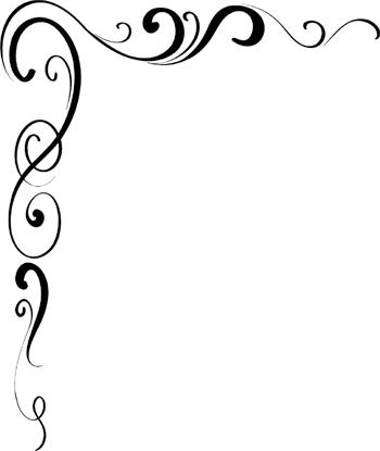 Scroll corner border clip art