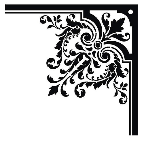 Simple corner border clipart clip art library 2