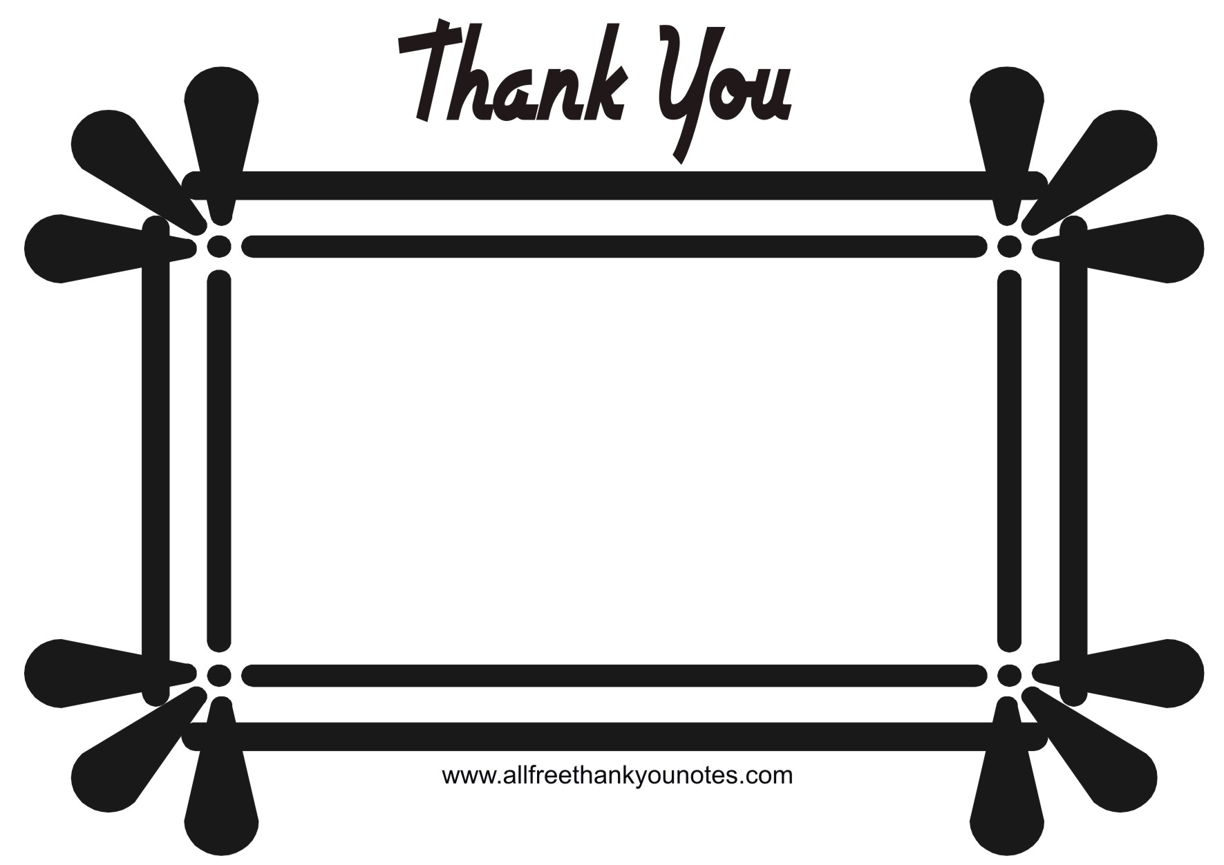 Thank you  black and white thank you card clipart black and white clipartxtras 2