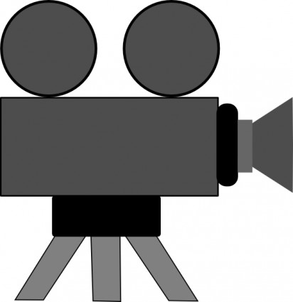 Camera clipart movie director pencil and in color camera