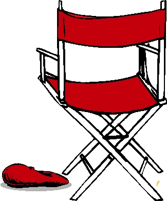 Chair clipart movie director pencil and in color chair