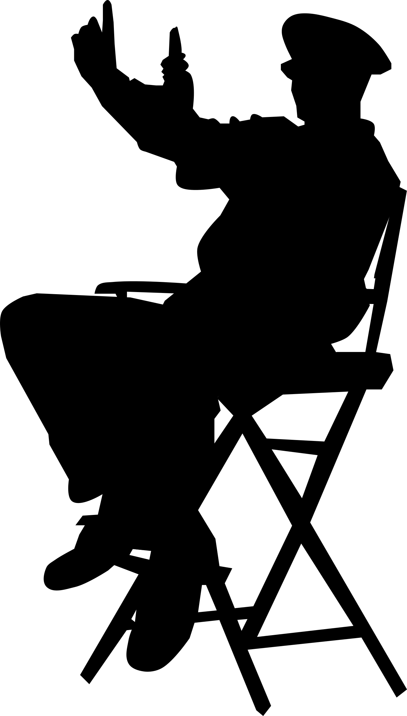 Clipart director in chair