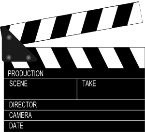 Director movie clapper board clip art at vector clip art
