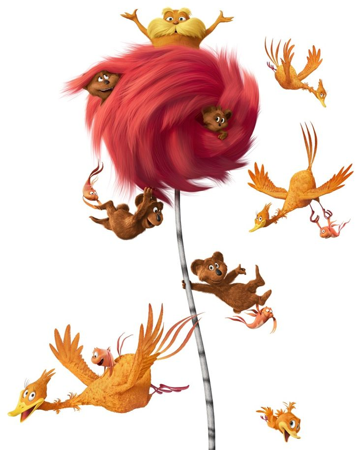 Dr seuss and lorax images on seuss week clip art