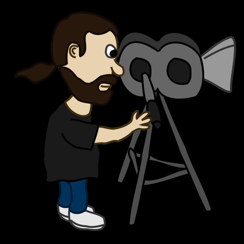 Free cartoon movie director clip art