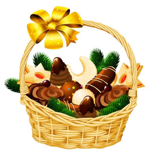 Gift basket clipart christmas gingerbread man cookie candy images