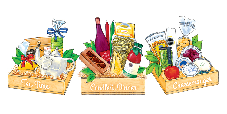 Gift basket gourmet t baskets elephants delicatessen clip art