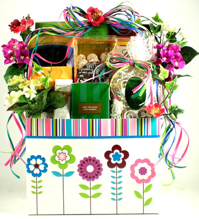 Gift basket just because gourmet t basket clip art