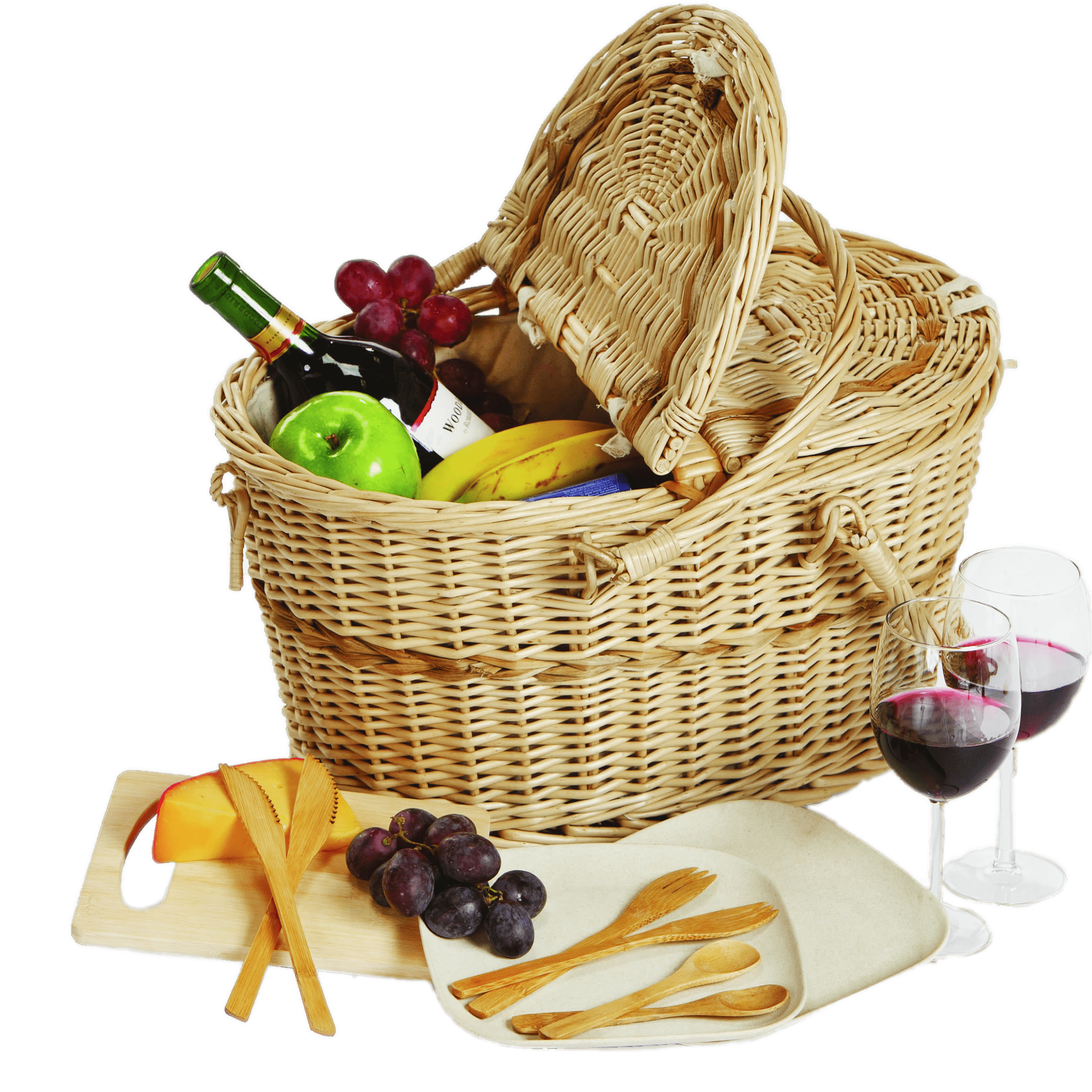 Gift basket picnic basket clipart t hamper pencil and in color picnic
