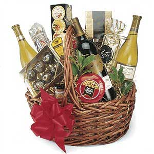 Gift basket t basket wine christmas clipart border clipartfest 3