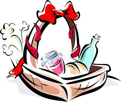 Gift basket t baskets clipart 2