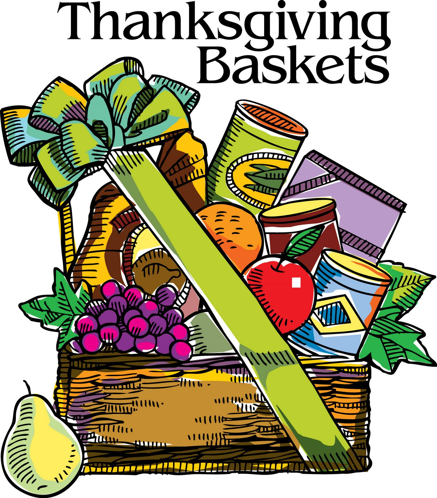 Gift basket thanksgiving food baskets clipart