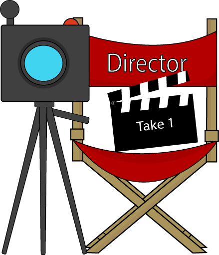 Movie director clip art library