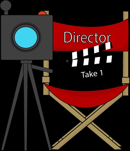 Movie director clip art library