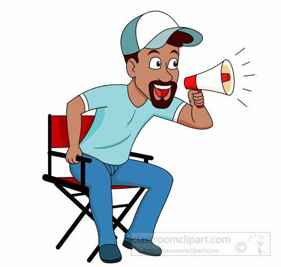 Occupation clipart movie director with loud speaker clipart