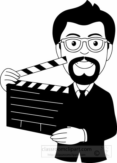 Occupations clipart black white movie director