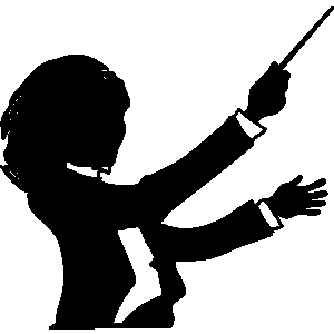 Orchestra director clipart 7