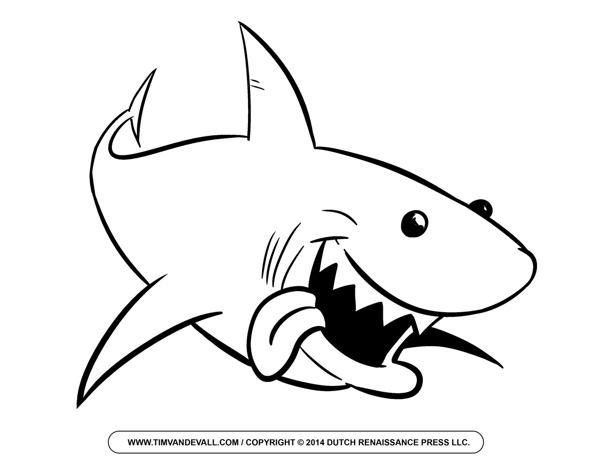 Shark black and white black and white shark clipart free images