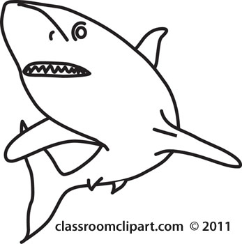 Shark black and white shark clip art 5