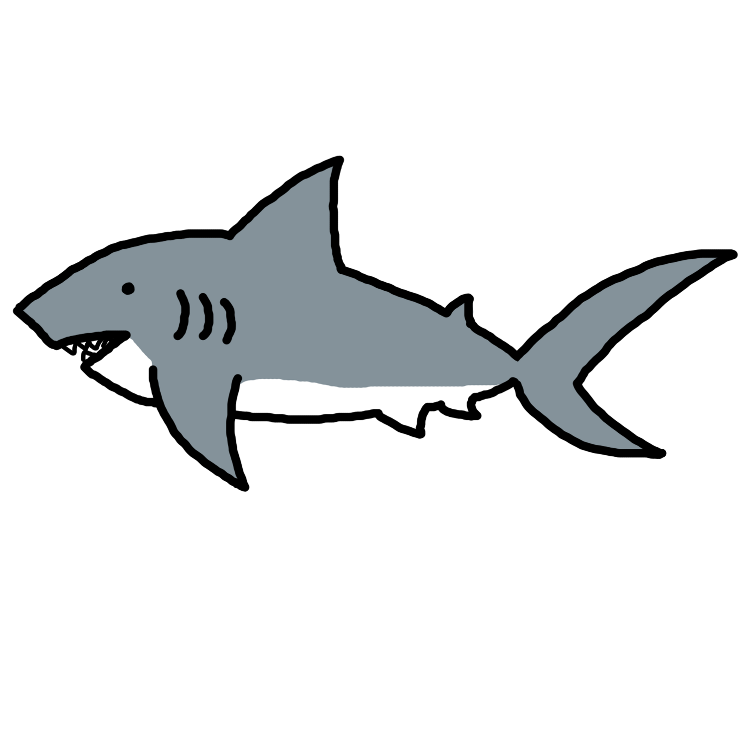 Shark black and white shark clip art black and white free clipart images 3