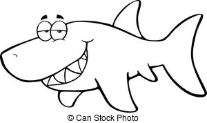 Shark black and white shark clipart black and white pencil in color shark