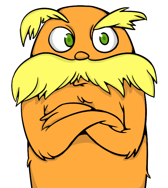 The lorax by beeblez on clipart library clip art library