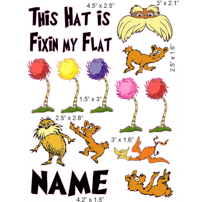 The lorax cranial band decoration from high quality vinyl for baby clipart
