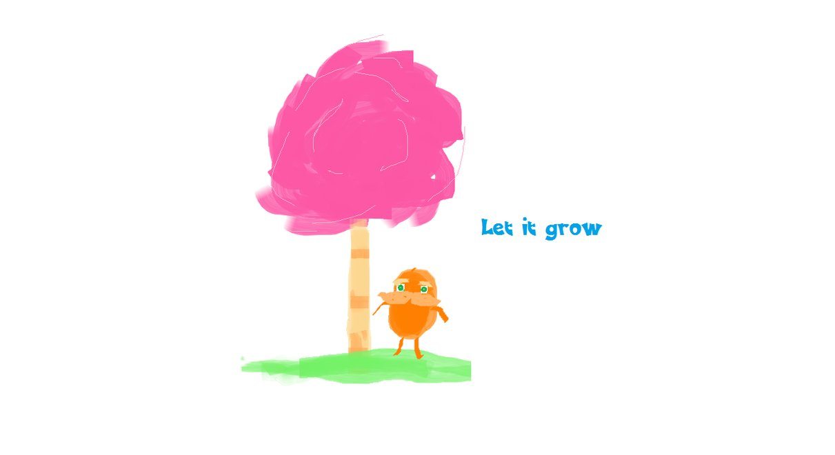The lorax let it grow by daren7 on deviantart clipart