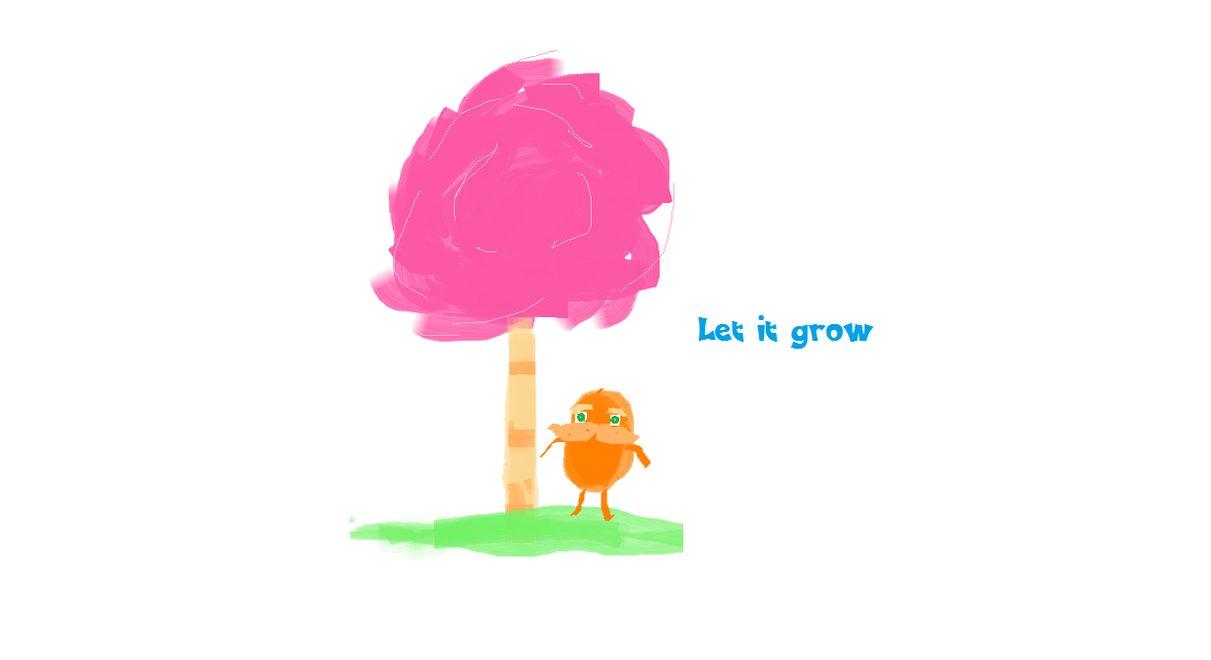 The lorax let it grow by daren7 on deviantart clipart