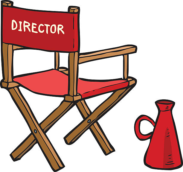 Theatre clipart director chair pencil and in color theatre