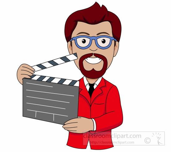 Theatre clipart movie director clipart