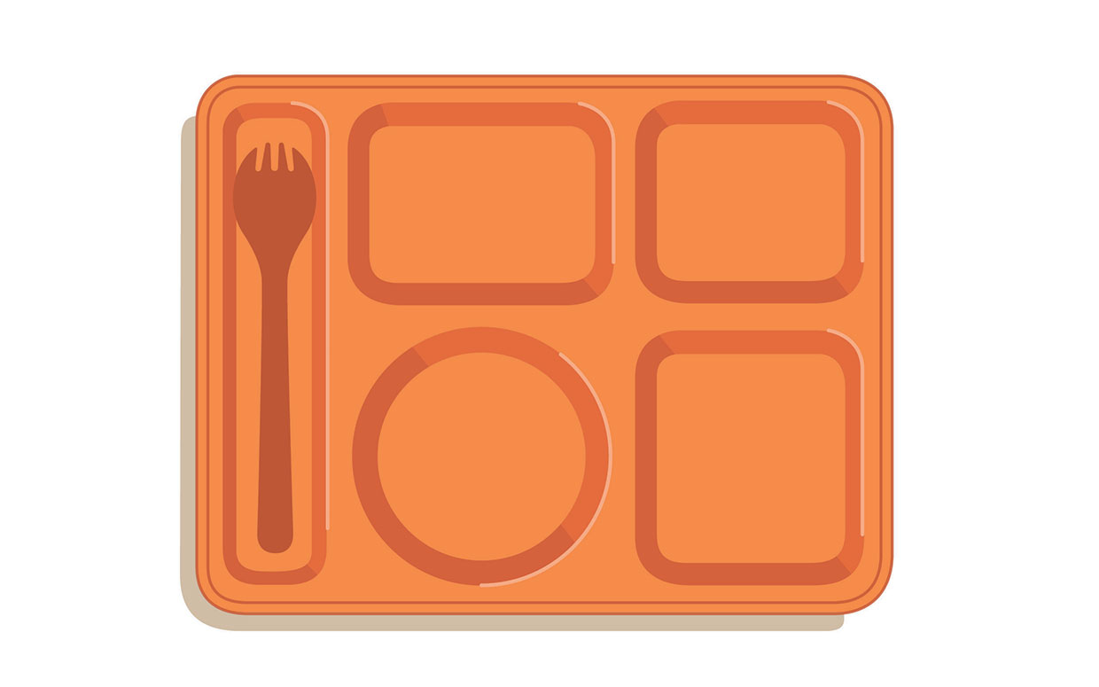 Cafeteria lunch tray clipart