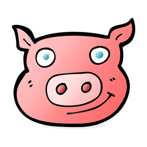 Cartoon pig face free stock image storyblocks clip art