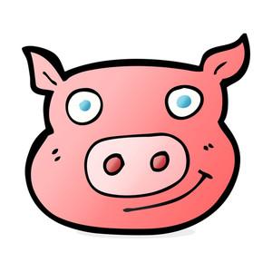 Cartoon pig face free stock image storyblocks clip art
