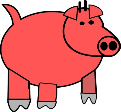 Cartoon pig face free vector download free for clipart