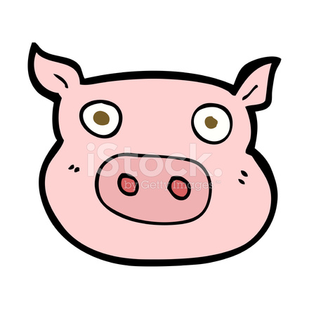 Cartoon pig face stock vector clip art