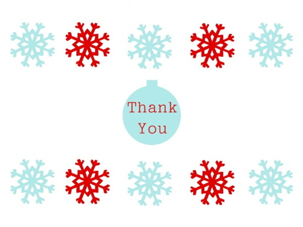 Christmas thank you christmas card greetings thank you the collection of quotes clip art