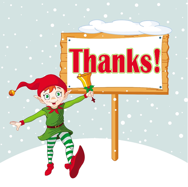 Christmas thank you clip art 2