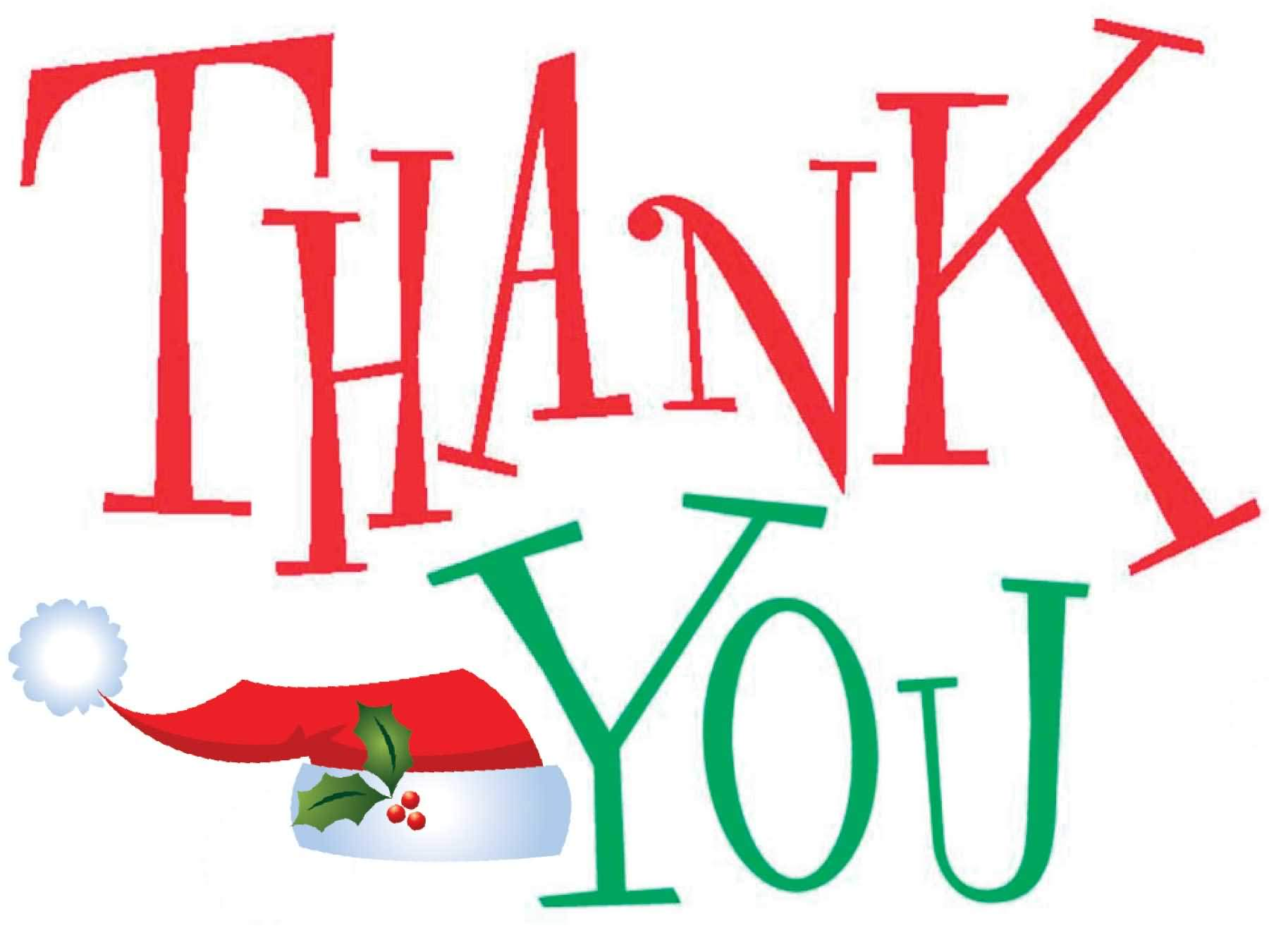 Christmas thank you clip art free clipart images 2
