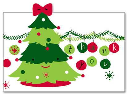 Christmas thank you clip art