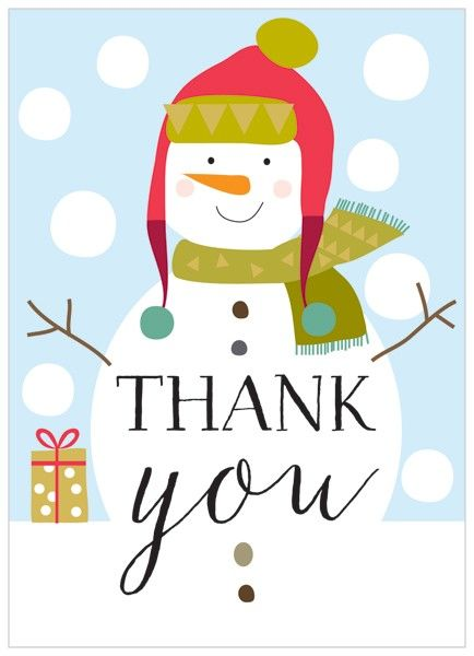 Christmas thank you snowman thank you clipart free