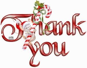 Christmas thank you thanks you images on animation animated clipart