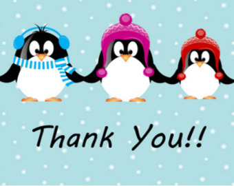 Christmas thank you winter thank you clipart clipartxtras