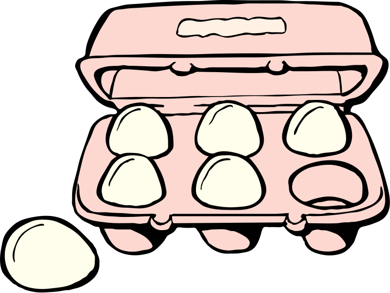 Egg lunch tray clipart the cliparts