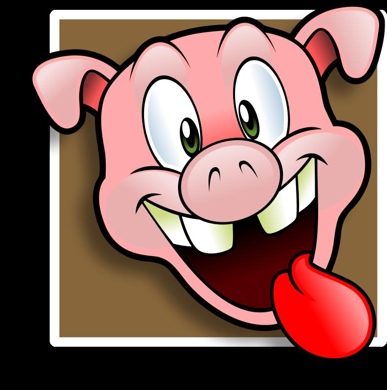 Free wacky pig face avatar clip art