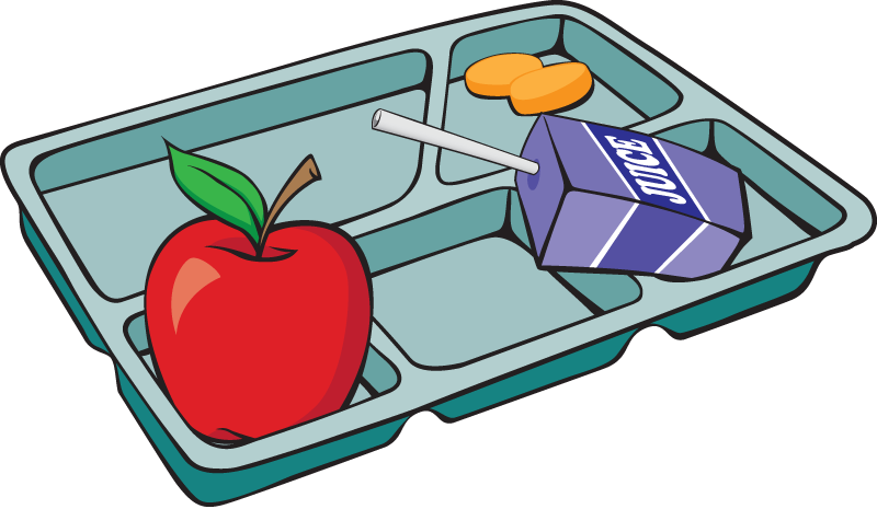 Lunch tray get food tray clipart the cliparts