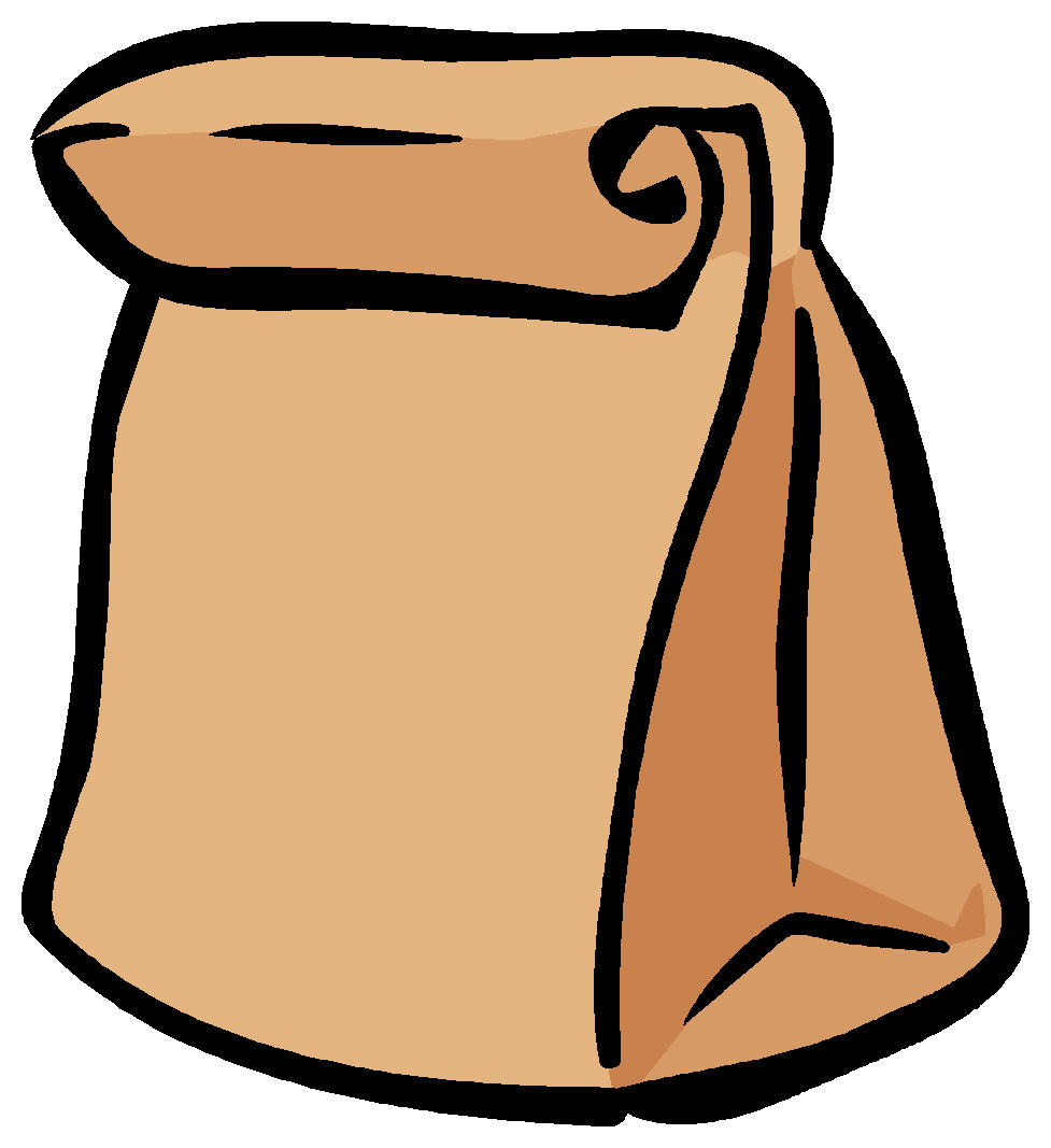 Lunch tray lunch bag clipart