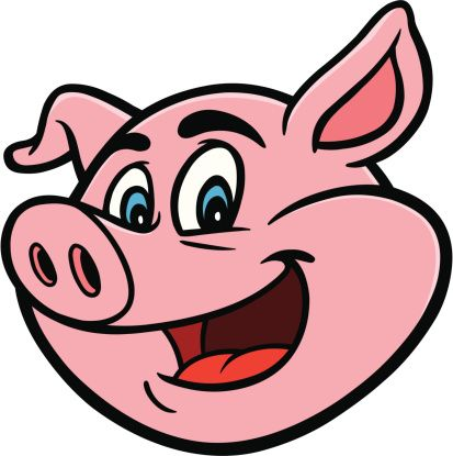 Pig face cartoon pig clipart abs for worksheets farmers